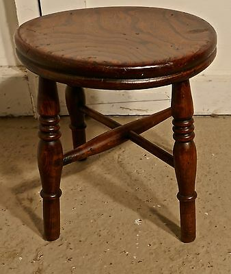 19th Century Elm Dairy Stool