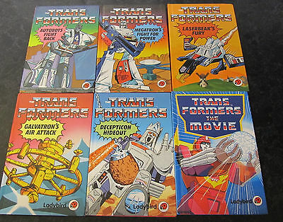 6 First Edition Ladybird Books Transformers