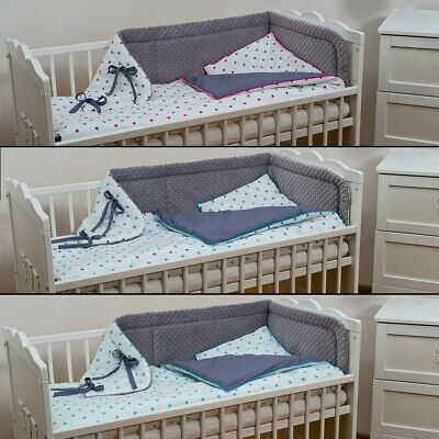 3-pieces Minky Fabric baby bedding for cot bed