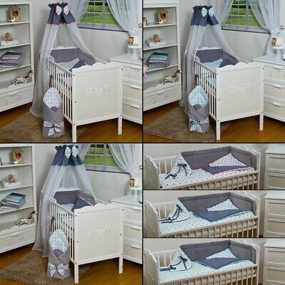 9- pieces Minky Fabric baby bedding for cot bed