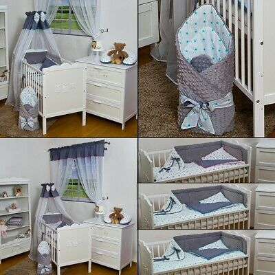 11-pieces Minky Fabric baby bedding for cot bed