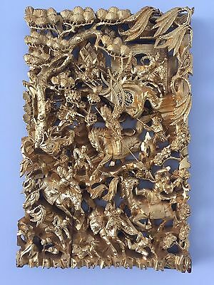 Vintage Chinese Gilt Wooden Carved