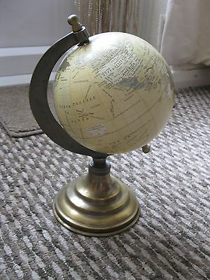 Globe With Metal Frame