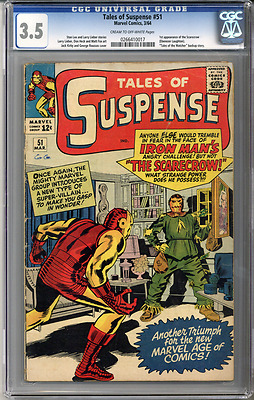 Tales of Suspense #51  CGC 3.5