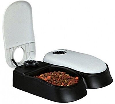 Pet Automatic Cat Dog Food Water Dispenser Feeder Timer Bowl Trixie Tx2 Drink