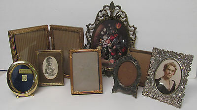 VINTAGE PICTURE FRAMES LOT OF 8 Frames 1 is Italy NICE