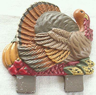 Cast Iron Turkey Doorknocker Topper Midwest Of Cannon Mills Discontinued Ob