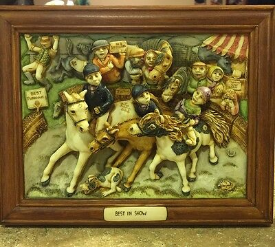 Best in Show Harmony Kingdom Picturesque 3D Limited WITTY, FRAMED