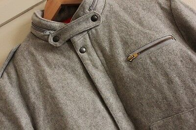 Weatherman Mac/Mar Canada Grey Winter Wool Bomber Jacket Size S Mens Vintage