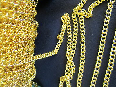 5 metres x Gold tone Chain 4 x 3mm Jewellery Making deezbeadz Craft supplies