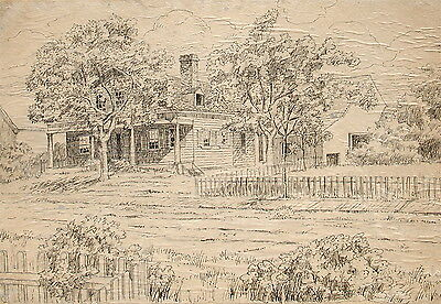 James L. Thompson  New England House in Landscape