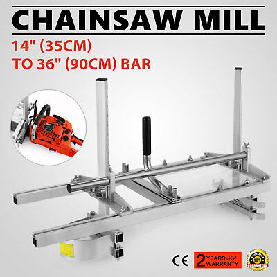 """Portable Chainsaw Mill log Planking lumber cutting 14"""" - 36"""" Chain saw Guide Bar"""