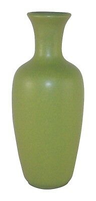 Teco Pottery Matte Olive Green Tall Arts and Crafts Vase 64B