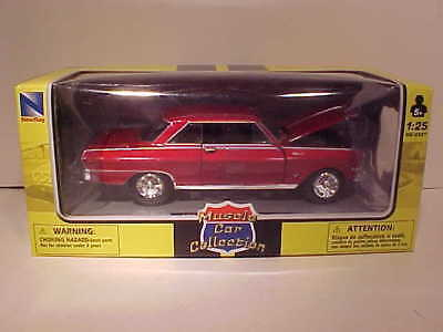 1964 Chevy Nova SS Coupe Die-cast Car 1:25 by New Ray 8 inch Red 1/24