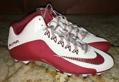 purchase cheap c4148 cc933 NIKE Alpha Pro 2 3 4 TD White Cardinal Red Molded Football Cleats NEW Mens