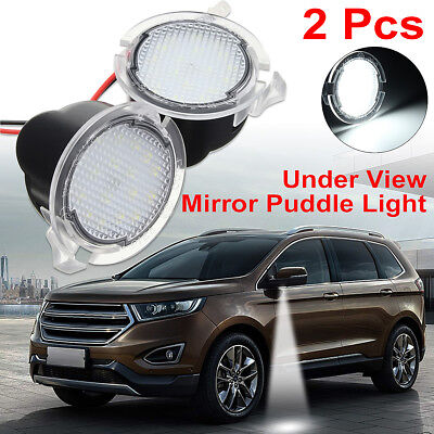LED Side Mirror Puddle Lights For Ford F150 Edge Explorer Kuga Expedition Taurus