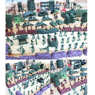 500Pcs Military Playset Plastic Model Toy Soldiers Army Men Figures Accessories
