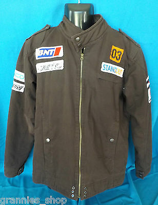 V8 Supercars Jason Richards Padded Zip Jacket JR's Garage Holden HSV Mens Size M