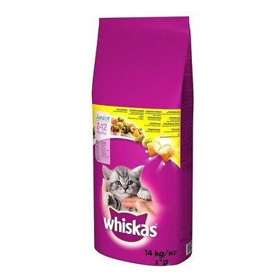 14 kg WHISKAS JUNIOR Huhn Katzenfutter Food for cat BRAVAM 5900951014369