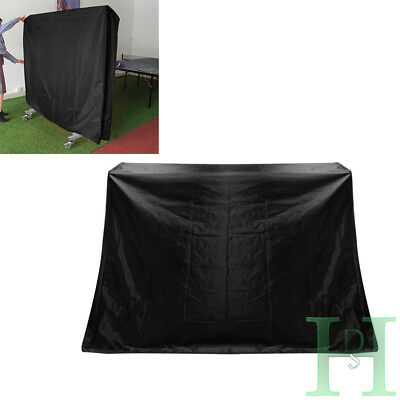 Black Full Size Ping Pong Table Storage Cover Tennis Table Cover Indoor/Outdoor