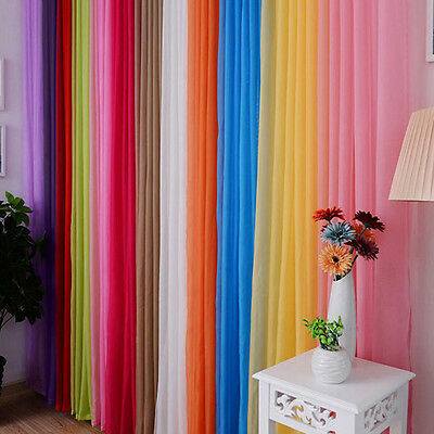 Curtain Homeuse Colors Window Drape Panel Sheer Valances Floral Tulle Voile Door