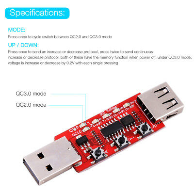 QC2.0 QC3.0 Automatic Voltage Current LCD Tester