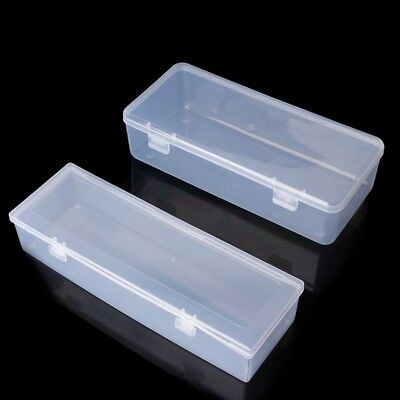 Plastic Rectangular Clear Storage Box Jewelry Container Case Bead Organizer Case
