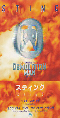 "STING - DEMOLITION MAN rare Japanese 3"" CD single in snap-pack"