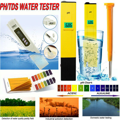 Digital PH Meter + LCD TDS Water Purity PPM Filter Hydroponic Pool Tester Pen