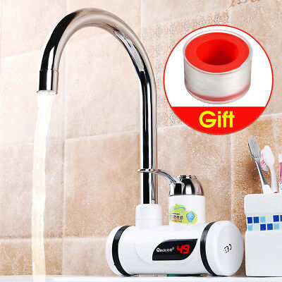 220V Durable Digital Instant Heating Electric Water Heater Faucet Tap Kitchen