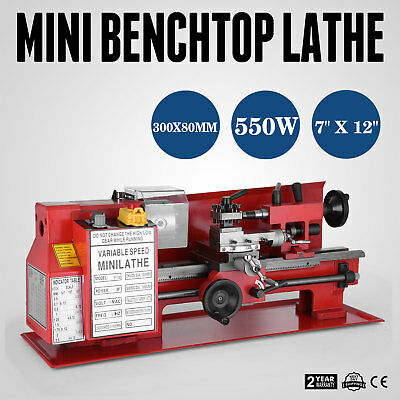 "7"" x 12""  In Precision Mini Benchtop Lathe Model Making Metal 550W WHOLESALE"