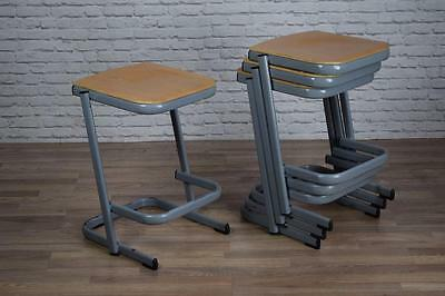 Vintage Industrial Style Stackable School Lab Cafe Bar Stools (40 AVAILABLE)