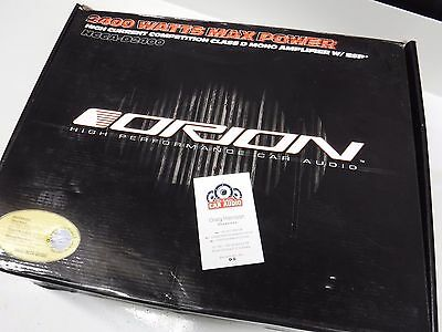 Orion HCCA-D2400 Competition Class-D Mono 2400W Amplifier NEW IN BOX