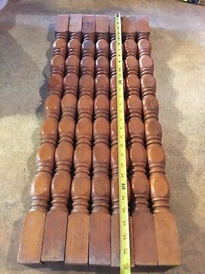 Salvage architectural Wood Spindles Lot Of 7