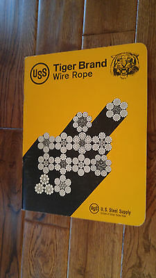 Vintage Uss Tiger Brand Wire Rope 1977 Catalog Us Steel Company Usa 78 Pages