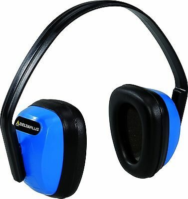 Delta Plus SPA3 Ear Defenders Adjustable 28 Decibel Protection PPE (SPA3BL)