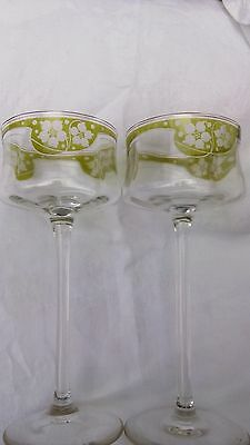 Pair St-Louis Antique Glasses
