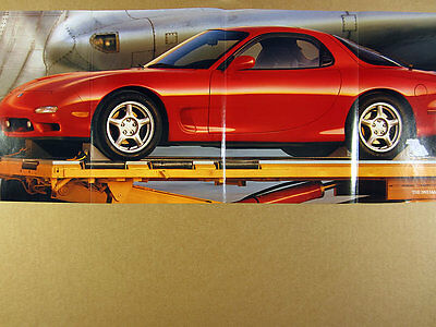 1993 Mazda RX-7 RX7 red car photo 4 page fold-out vintage print Ad