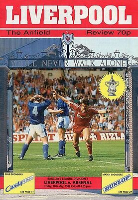 Liverpool v Arsenal – Original match programme May 1989 title decider