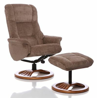 Astonishing Toulon Fabric Swivel Recliner Chair And Foot Stool Wheat Short Links Chair Design For Home Short Linksinfo