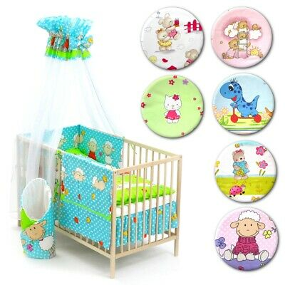 13 pieces BABY BEDDING SET to fit cot bed 120x60cm, nursery, toddler