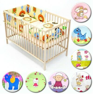 6 pieces BABY BEDDING SET to fit cot bed 140x70cm,nursery,toddler,duvet 150x120
