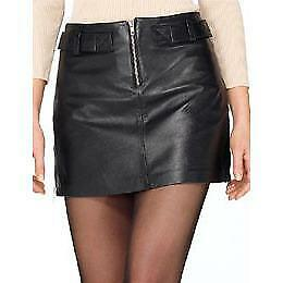 Womens Bay Leather Mini Skirt in As Shown