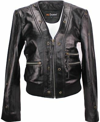 CLEARANCE - Womens Scarlet Short Cut Leather Jacket