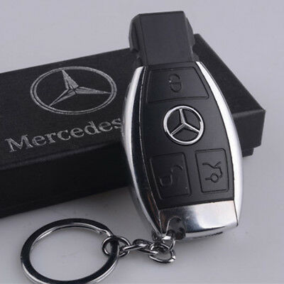 USB Electric Rechargeable Flameless Windproof Cigarette Lighter Car Key Benz VW