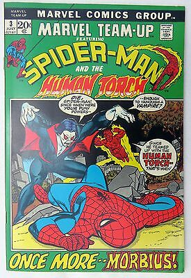 Marvel Team-Up #3 - 1972  Spiderman, MORIBUS, Human Torch - 9.0 VF/NM - SWEET!
