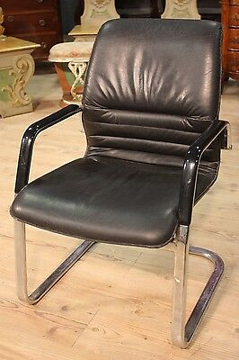 Comfortable Armchair Office Design European Iron Artificial Skin Years '80 L 58