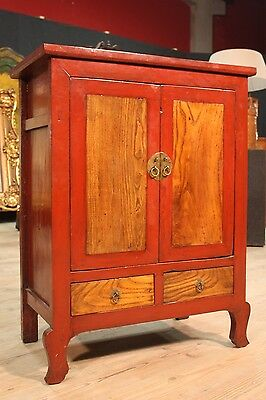 LOVELY CABINET cabinet WOOD LACQUERED EASTERN PERIOD '900 (H 114,5 cm)