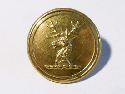 England 19thC STAGS HEAD facing Left GILT Firmin London Livery Button #L28