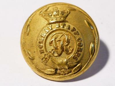 Antique British Raj 19thC BOMBAY STAFF CORPS Gilt Officers Button Jennens #11